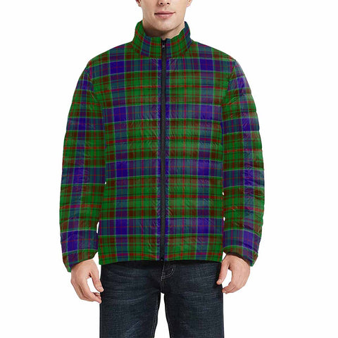 Adam Clan Scotland Tartan  Men's Lightweight Bomber Jacket K9