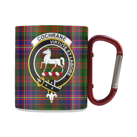 Cochrane Modern  Tartan Mug Classic Insulated - Clan Badge | scottishclans.co