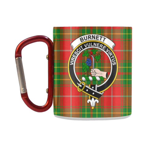 Burnett Ancient  Tartan Mug Classic Insulated - Clan Badge | scottishclans.co