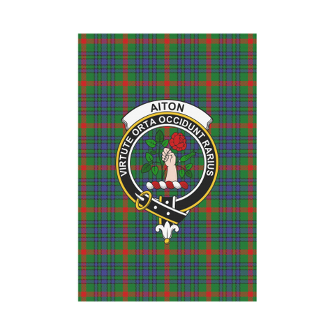 Aiton Tartan Flag Clan Badge | Scottishclans.co