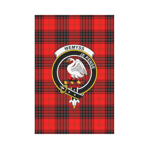 Wemyss Modern Tartan Flag Clan Badge | Scottishclans.co