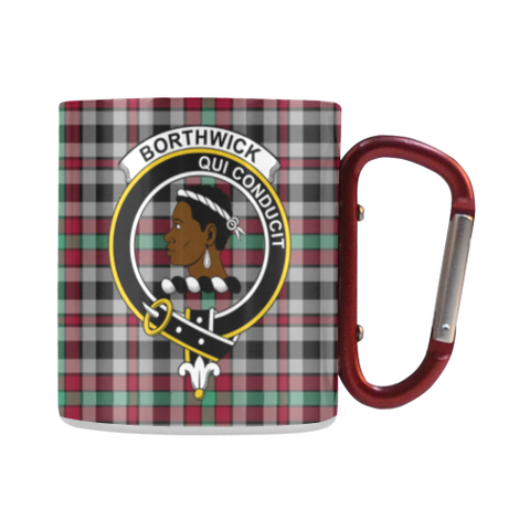 Borthwick Ancient  Tartan Mug Classic Insulated - Clan Badge | scottishclans.co
