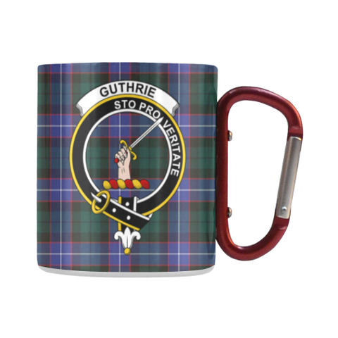 Image of Guthrie Modern Tartan Mug Classic Insulated - Clan Badge | scottishclans.co
