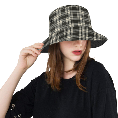 Menzies Black _ White Ancient Tartan Bucket Hat for Women and Men - utility kilt,tartan plaid,tartan,scottish tartan,scottish plaid,scottish kilt,scottish clothing,ONLINE SHOPPING,kilts for sale,kilts for men,kilt shop,kilt,cool bucket hat,CLOTHING,BUCKET HATS,bucket hat for women,bucket hat,bucket hat for men,scottish clan,scotland tartan,scots tartan ,Merry Christmas,Cyber Monday,Black Friday,Online Shopping