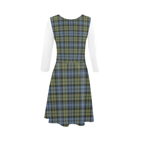Campbell Faded Tartan 3/4 Sleeve Sundress | Exclusive Over 500 Clans