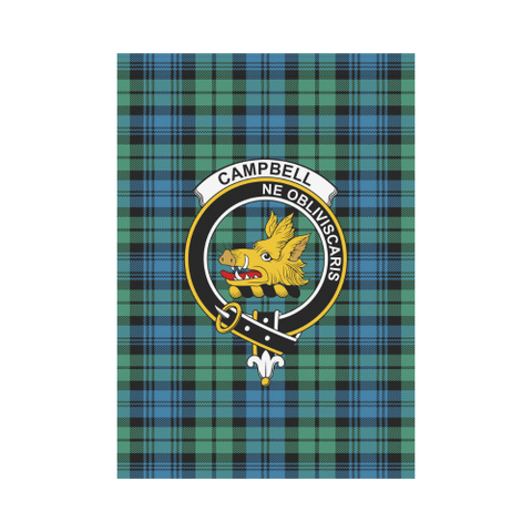 Campbell Ancient 01 Tartan Flag Clan Badge K7