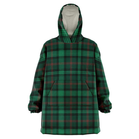 Image of Ross Hunting Modern Snug Hoodie - Unisex Tartan Plaid Front