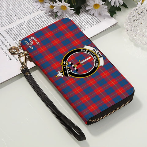 Image of Blane Crest Tartan Zipper Wallet™