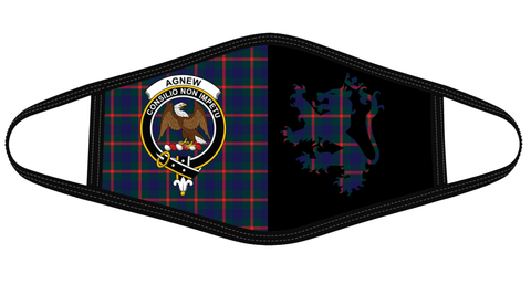 Agnew Modern Clan Badge Lion Mask Tartan Version 2 K6