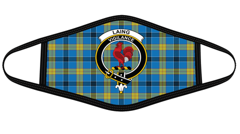Laing Clan badge Tartan Mask K7