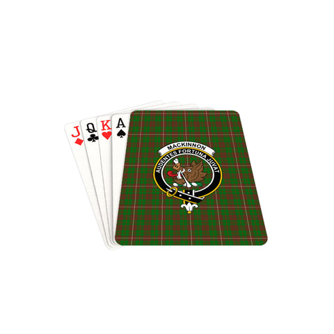 MacKinnon Hunting Modern Tartan Clan Badge Playing Card TH8