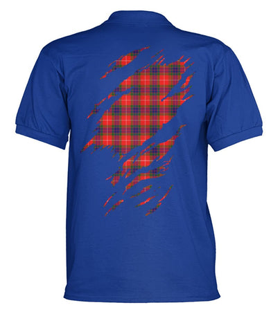 Abernethy Tartan Polo Shirt In Me Clan Badge K7