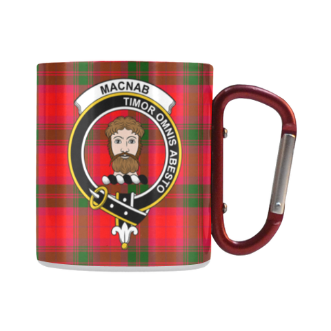 Macnab Modern Tartan Mug Classic Insulated - Clan Badge | scottishclans.co