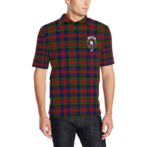 Tennant Tartan Clan Badge Polo Shirt
