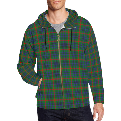 Aiton Tartan Zipped hoodie | Special Custom Products