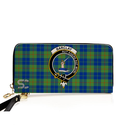 Barclay Hunting Ancient  Crest Tartan Zipper Wallet