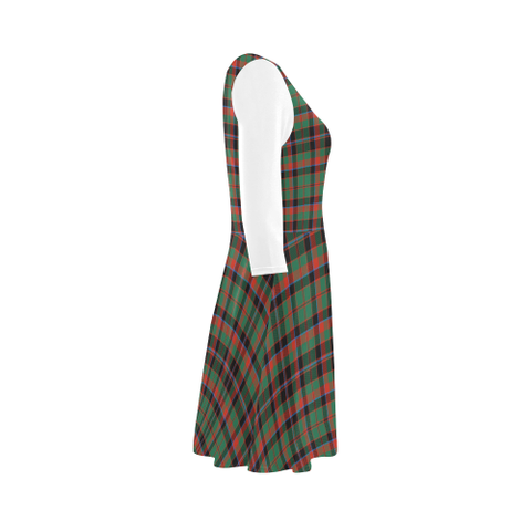 Cumming Hunting Ancient Tartan 3/4 Sleeve Sundress | Exclusive Over 500 Clans