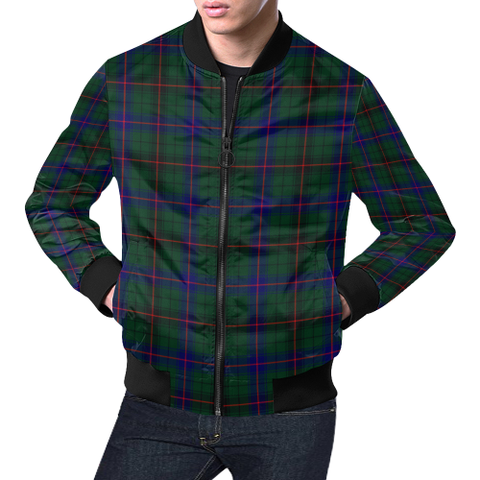 Davidson Modern Tartan Bomber Jacket | Scottish Jacket | Scotland Clothing