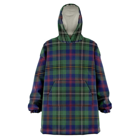 Image of Wood Modern Snug Hoodie - Unisex Tartan Plaid Front