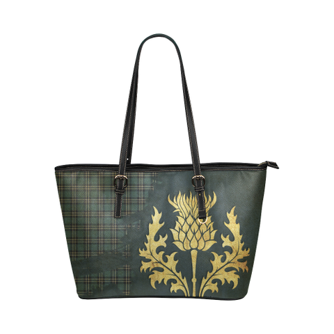 Earl Of St Andrews Tartan - Thistle Royal Leather Tote Bag