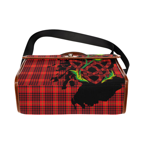 Image of MacIan Tartan Map & Thistle Waterproof Canvas Handbag| Hot Sale