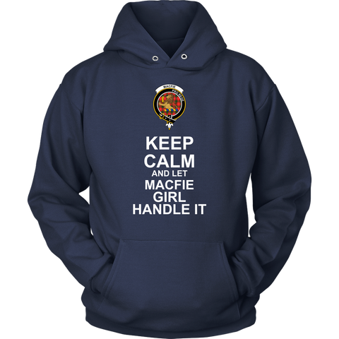 Image of Macfie Tartan Keep Calm Girl T-Shirt K7