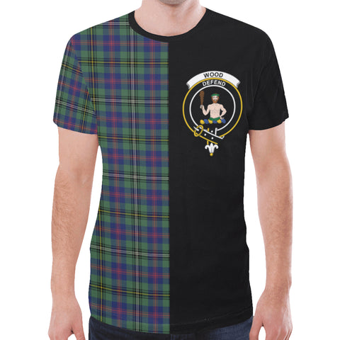 Wood Modern T-shirt Half In Me | scottishclans.co
