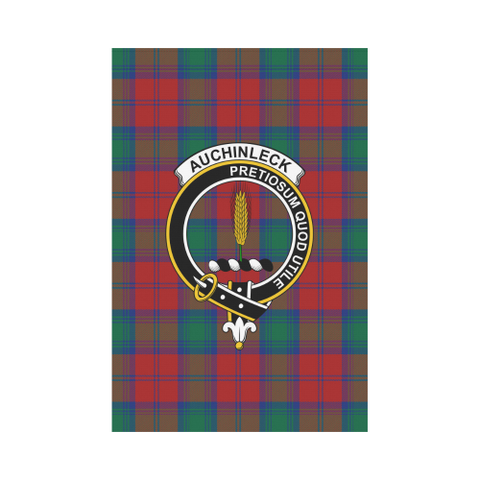 Auchinleck Tartan Flag Clan Badge | Scottishclans.co