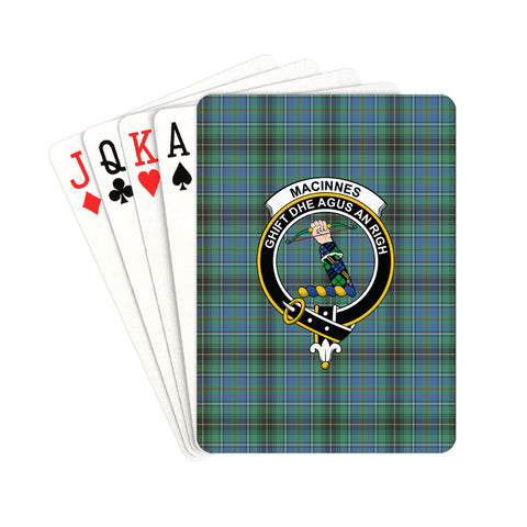 MacInnes Ancient Tartan Clan Badge Playing Card | scottishclans.co