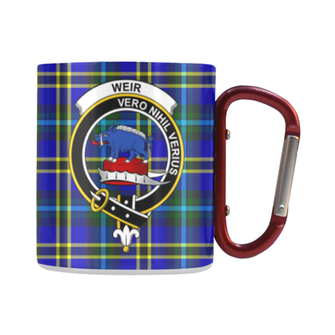 Weir Modern Tartan Mug Classic Insulated - Clan Badge | scottishclans.co