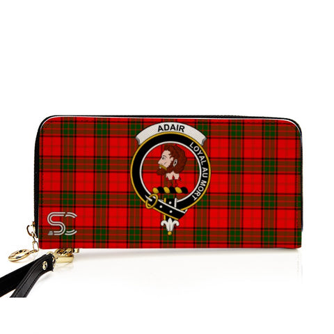 Adair Crest Tartan Zipper Wallet