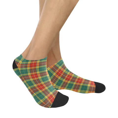 Buchanan Old Sett Tartan Ankle Socks K7