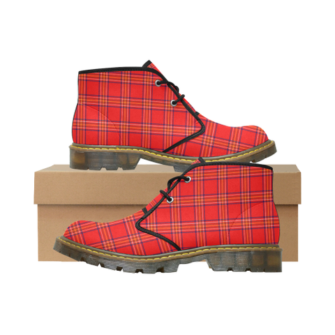 Burnett Modern Tartan Chukka Boot | Over 500 Tartans | Special Custom Design | Love Scotland