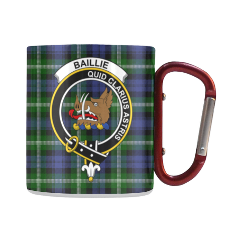 Image of Baillie Modern  Tartan Mug Classic Insulated - Clan Badge | scottishclans.co