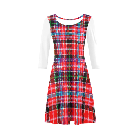 Image of Aberdeen District Tartan 3/4 Sleeve Sundress | Exclusive Over 500 Clans