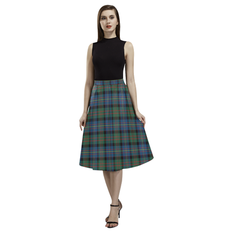 Cameron of Erracht Ancient Tartan Aoede Crepe Skirt | Exclusive Over 500 Tartan