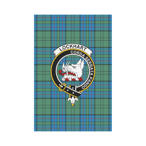 Lockhart Tartan Flag Clan Badge | Scottishclans.co