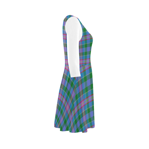 Image of Ralston Tartan 3/4 Sleeve Sundress | Exclusive Over 500 Clans