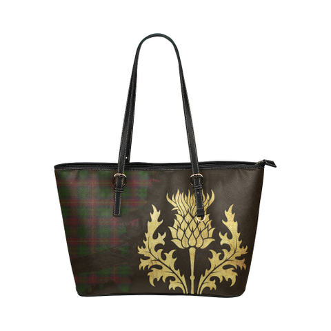 Cairns Tartan - Thistle Royal Leather Tote Bag