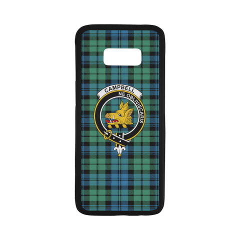 Campbell 01 Tartan Clan Badge Rubber Phone Case TH8