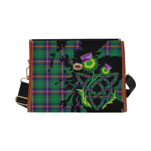 Young Modern Tartan Map & Thistle Waterproof Can