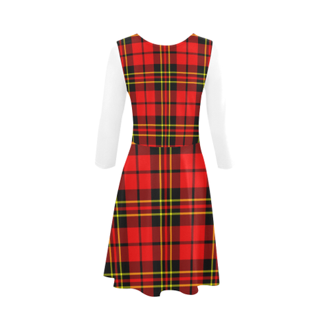 Brodie Modern Tartan 3/4 Sleeve Sundress | Exclusive Over 500 Clans