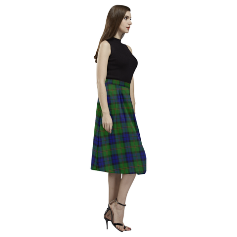 Image of Dundas Modern Tartan Aoede Crepe Skirt | Exclusive Over 500 Tartan
