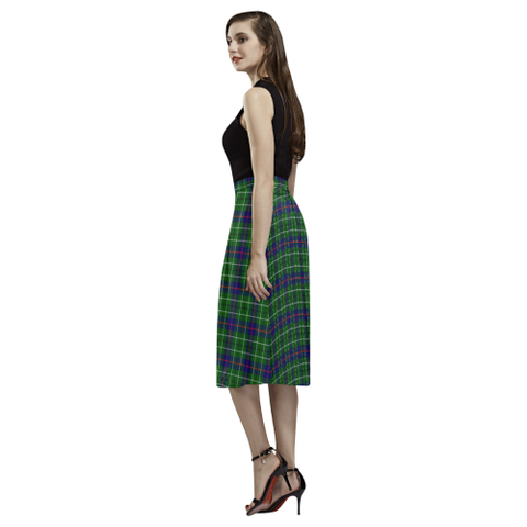 Image of Duncan Modern Tartan Aoede Crepe Skirt | Exclusive Over 500 Tartan
