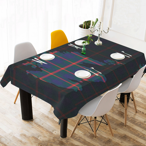 Agnew Modern Tartan Map Tablecloth