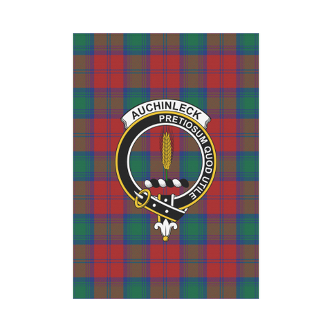 Auchinleck Tartan Flag Clan Badge K7