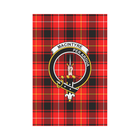 Macintyre Modern Tartan Flag Clan Badge | Scottishclans.co