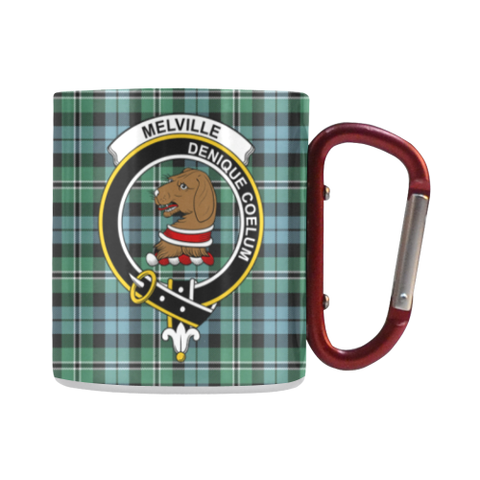 Melville Tartan Mug Classic Insulated - Clan Badge | scottishclans.co