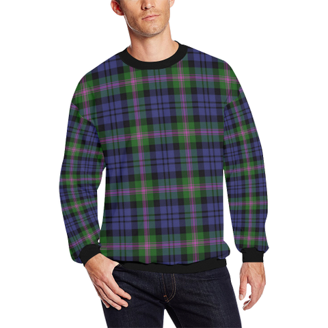 Image of Baird Modern Tartan Crewneck Sweatshirt TH8