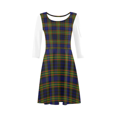 Image of Clelland Modern Tartan 3/4 Sleeve Sundress | Exclusive Over 500 Clans